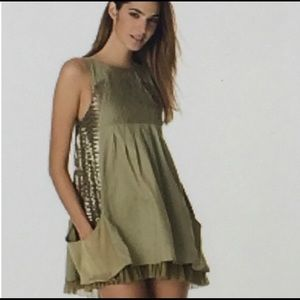 Alice + Olivia | Olive Safari Sequined Panel Dress